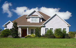 Real Estate11a. Rural home on a sunny day in Florida Royalty Free Stock Photo