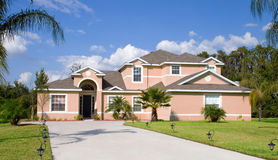 Real Estate4B. Rural Home on a sunny day in Florida Royalty Free Stock Images