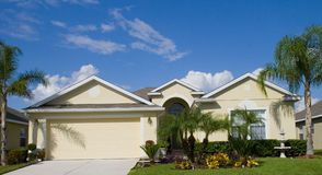 Real Estate9. Rural home on a sunny day in Florida Stock Photography