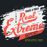Real extreme sport t-shirt typographic design Royalty Free Stock Image
