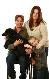 Real family with dog Royalty Free Stock Image