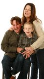 Real family with laughing Stock Photography