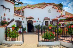 Real Famous Traditional House in Cave, Guadix, Spain, Europe Royalty Free Stock Image