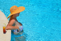 Real female beauty enjoying her summer vacation Royalty Free Stock Image