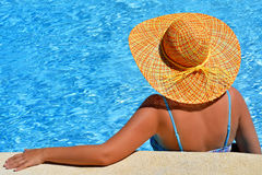 Real female beauty enjoying her summer vacation Royalty Free Stock Photos