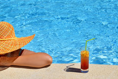 Real female beauty enjoying her summer vacation Royalty Free Stock Images