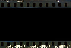 Real film border strip scan. Stock Image