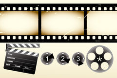 real filmstrip illustration Royalty Free Stock Images