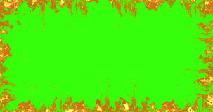 Real fire flames burn movement on chroma key, green screen background Royalty Free Stock Photography
