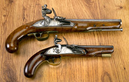 Real Flintlock Pistols. Royalty Free Stock Image