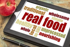 Real food word cloud Stock Images