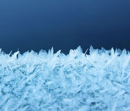 Real frost icy snow formations Royalty Free Stock Photos