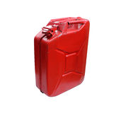 Real fuel container isolated on white Royalty Free Stock Photos