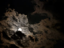 Real full moon night sky background - Halloween Royalty Free Stock Photos