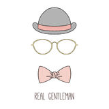 Real gentleman bowler hat poster Stock Images