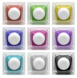 Real glass button set 3 | Isolated Stock Image