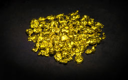 Real golden nuggets Stock Photography