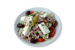 Real greek salad Stock Photography