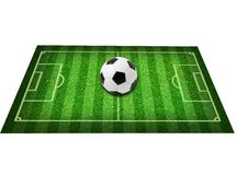 Real green grass soccer field background Royalty Free Stock Photography