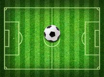 Real green grass soccer field background Stock Images