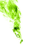 Real green smoke on white background Stock Photography