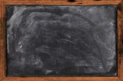 Real grunge blank blackboard Stock Images