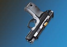 Real hand gun pistole 9mm  Royalty Free Stock Photo