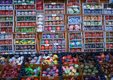 Real hand painted easter eggs, Czech Republic - Prague market Stock Photos