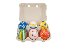 Real hand painted Easter eggs Royalty Free Stock Photography