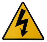 Real High Voltage Sign Royalty Free Stock Photo