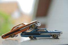 The Real Hot Wheels. Hot wheels it`s just not a toys because a man never growe up Stock Photo