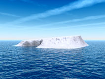 Real_Ice. Big antarctic  iceberg - 3d landscape scene Royalty Free Stock Image
