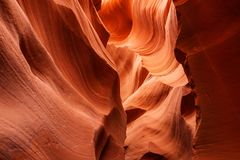 Real images of the lower Antelope canyon in Arizona, USA.  Royalty Free Stock Image