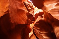 Real images of the lower Antelope canyon in Arizona, USA.  Stock Photo