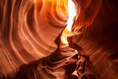 Real images of the lower Antelope canyon in Arizona, USA.  royalty free stock photos