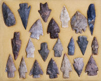 Real Indian Arrowheads. Stock Image