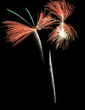 Real Isolated Fireworks, Butterfly Pattern Royalty Free Stock Images