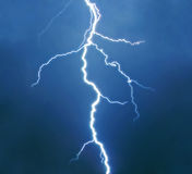 Real isolated lightning Royalty Free Stock Images