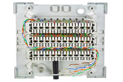 The real junction box for a telephony royalty free stock photos