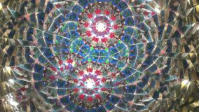 Real kaleidoscope background stock video footage