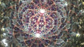Real kaleidoscope background stock video