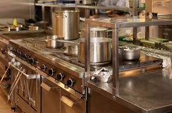 Real kitchen of a restaurant Stock Photo