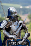 Real knight's armor. A Platemail as used in the Middle Ages as a protective garment of the knight Royalty Free Stock Photos