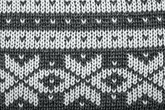 Real knitted fabric textured background Stock Photography