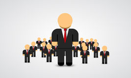 The Real Leader - Business Man in crowd. Vector illustration Royalty Free Stock Photos
