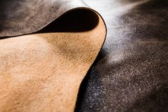Real Leather Folded Over Royalty Free Stock Images