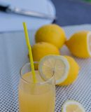 Real Lemonade Represents Refreshing Summertime And Juice Royalty Free Stock Image