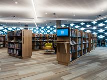 Real Library, Learning and Cultural Centre in Ringwood in the eastern suburbs of Melbourne. Melbourne, Australia - July 21, 2018: Realm Library, Learning and royalty free stock photos