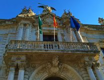Streets of Seville, Andalusia, Spain - The Royal Tobacco Factory royalty free stock images