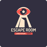 Real-life room escape and quest game poster. Real-life room escape and quest game logo vector illustration
